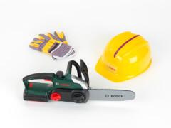Bosch Kettensäge+Helm+Handschuhe, Spiel-Set