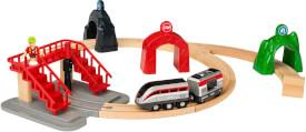BRIO 63387300 Großes Smart Tech Reisezug Set, ab 3 Jahren, Holz und Kunststoff