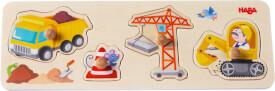 HABA - Greifpuzzle Auf der Baustelle, 4-teilig, ab 12 Monaten