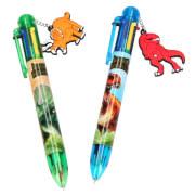 Depesche 5146 Dino World Kugelschreiber mit  6 Tintenfarben