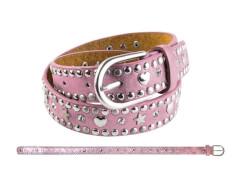 Kinder Gürtel Nieten Herz+Stern rosa 70 cm